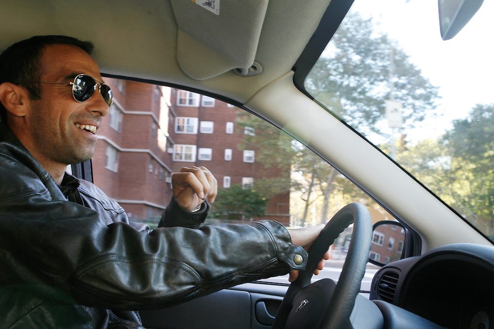 October 13th 2006. New York, New York. Unites States..Red Bulls French professional soccer player Youri Djorkaeff, drives back home after practicing with his team at the Giants Stadium.