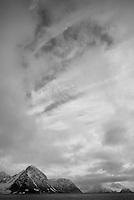 Dramatic skies over Svalbard, Norway.