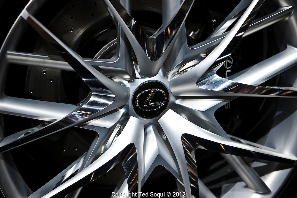 LA Auto Show press preview at the LA Convention Center..Lexus LF-CC concept vehicle, wheel detail..