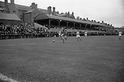 21/08/1966<br /> 08/21/1966<br /> 21 August 1966<br /> St. Patrick's Athletic v Waterford at Richmond Park, Dublin. Alfie Hale, Waterford's £3000 star shoots wide during the game