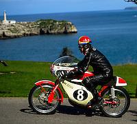 29-09-2013 Santander<br /> IV Gran Carrera Motos Clasicas en el Palacio de la Magdalena<br /> Cesar Gracia Samper, con la moto Montesa GP125<br /> Fotos: Juan Manuel Serrano Arce