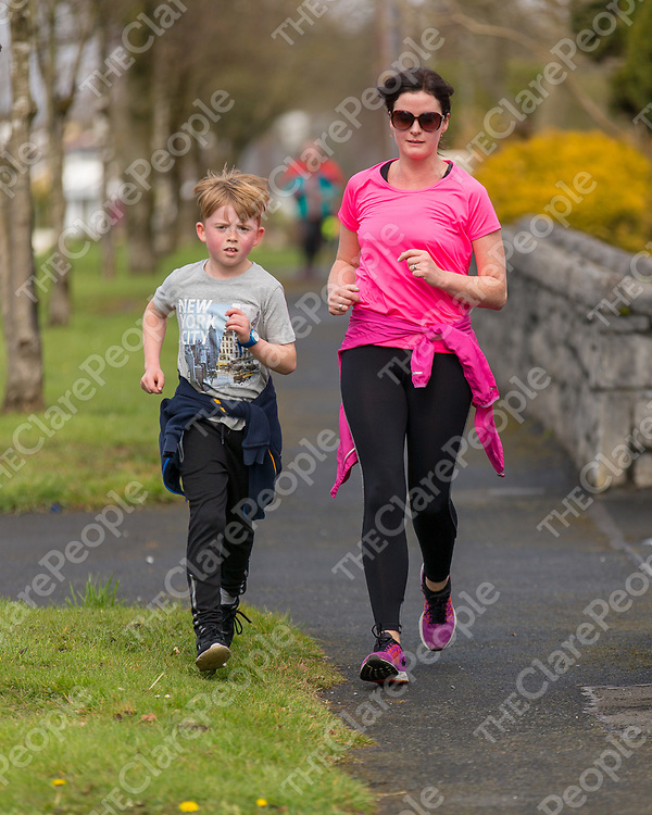 Lorraine Dilleen  and James O'Connor taking part in the 'Go Pink for Maxine' Memorial 5K Run/Walk on Saturday