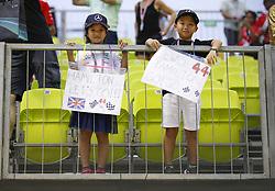 September 16, 2018 - Singapore, Singapore - Motorsports: FIA Formula One World Championship 2018, Grand Prix of Singapore, . Fans of #44 Lewis Hamilton (GBR, Mercedes AMG Petronas Motorsport) (Credit Image: © Hoch Zwei via ZUMA Wire)