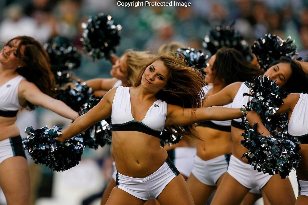 28 August 2008: A Philadelphia Eagles Cheerleader before the game against the New York Jets on August 28, 2008. The Jets beat the Eagles 27 to 20 at Lincoln Financial Field in Phialdelphia, Pennsylvania.