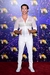 AJ Pritchard arriving at the red carpet launch of Strictly Come Dancing 2019, held at BBC TV Centre in London, UK.
