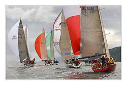 Yachting- The first days inshore racing  of the Bell Lawrie Scottish series 2003 at Tarbert, Loch Fyne.  Light shifty winds dominated the racing ...Absolutely, Nimmo, Gloves Off, Big Brother and class winner 'Cracklin Rosie' a Corby 40 from Howth...Pics Marc Turner / PFM