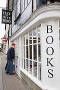 """Famous Hay-on-Wye Booksellers in Hay-on-Wye or Y Gelli Gandryll in Welsh, known as """"the town of books"""", is a small town in Powys, Wales famous for it's many second hand and specialist bookshops, although the number has declined sharply in recent years, many becoming general antique shops and similar."""