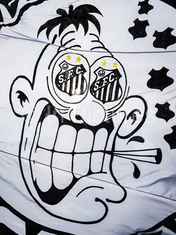 Santos fans arrive to watch quarter final game between their team and Palmeiras for the State championship.
