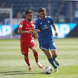 Yunus Malli (1.FC Union Berlin) und Florian Grillitsch (TSG 1899 Hoffenheim)<br /> <br /> Sport: Fussball: Bundesliga: Saison 19/20: TSG 1899 Hoffenheim-1.FC Union Berlin, 20.06.2020.<br /> <br /> Foto: RALF POLLER/AVANTI/POOL/PIX-Sportfotos<br /> <br /> Nur für journalistische Zwecke! Only for editorial use! <br /> Gemäß den Vorgaben der DFL Deutsche Fußball Liga ist es untersagt, in dem Stadion und/oder vom Spiel angefertigte Fotoaufnahmen in Form von Sequenzbildern und/oder videoähnlichen Fotostrecken zu verwerten bzw. verwerten zu lassen. DFL regulations prohibit any use of photographs as image sequences and/or quasi-video.