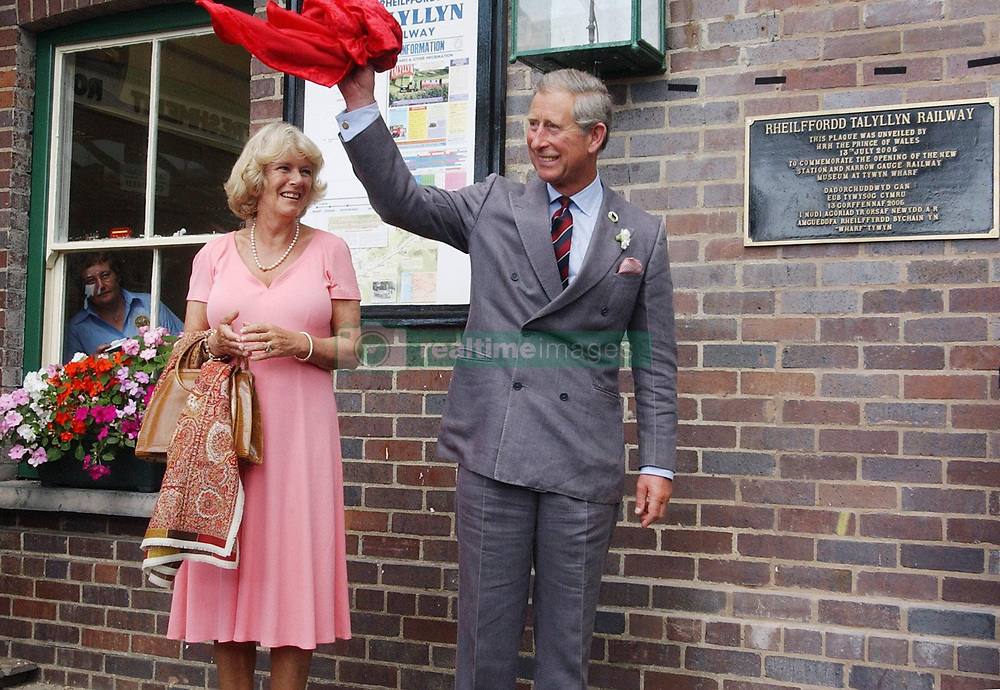 File photo dated 13/07/05 of the Prince of Wales and the Duchess of Cornwall waving after unveiling a plaque commemorating the opening of the new station and narrow gauge railway museum for the Talyllyn Railway at Tywyn, Gwynedd. Charles and Camilla are celebrating their 15th wedding anniversary on Friday, after they were reunited on Monday when the 72-year-old duchess came out of a 14-day self-isolation on the Balmoral estate in Aberdeenshire.