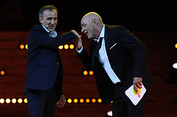 June 27, 2017 - Marseille, France - Gala d ouverture du festival d humour M Rire au theatre Silvain a Marseille.Patrick Bosso - Titoff - Elie Semoun (Credit Image: © Panoramic via ZUMA Press)