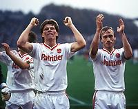Fotball<br /> Bundesliga Tyskland<br /> Foto: imago/Digitalsport<br /> NORWAY ONLY<br /> <br /> 11.10.1986<br /> <br /> Stefan Reuter und Anders Giske (beide Nürnberg)