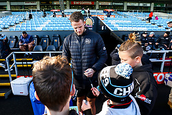 Jonny Hill of Exeter Chiefs meets fans - Rogan/JMP - 10/11/2019 - RUGBY UNION - Sandy Park - Exeter, England - Exeter Chiefs v Bristol Bears - Gallagher Premiership.