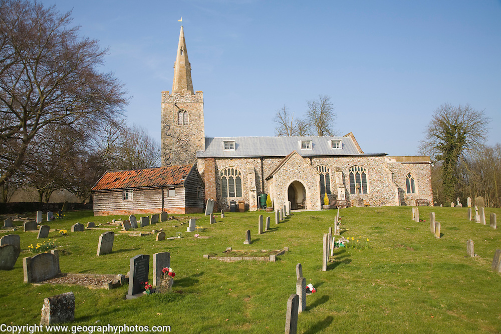Polstead Parish church of Saint Mary, Polstead, Suffolk, England