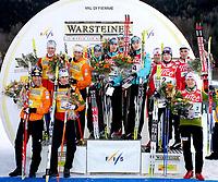 Ruhpolding<br /> 14.01.07<br /> Skiskyting Verdenscup 12,5 km fellesstart<br /> Herrer<br /> Team Austria, Team Finnland und das Team Norge<br /> DIGITALSPORT / NORWAY ONLY