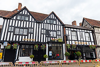 The Golden Bee Wetherspoons pub Stratford upon avon  reopens after being forced to close on Super Saturday due to patrons not obeying social distancing rules  photo byMark anton smith