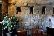 Ecuador, May 27 2010: View of wall of Inca Chapel at Hacienda San Agustin del Callo. Copyright 2010 Peter Horrell