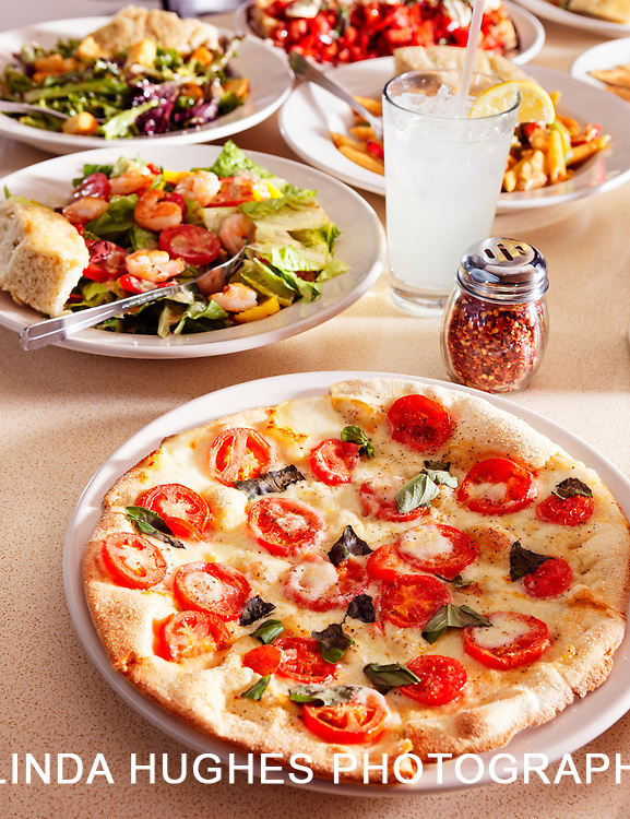 Vegetable Pizza and Other Dishes