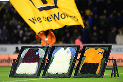 A floral tribute, led by Tony Daley, Rob Edwards and Mark Delaney in remembrance of Graham Taylor - Mandatory by-line: Dougie Allward/JMP - 14/01/2017 - FOOTBALL - Molineux - Wolverhampton, England - Wolverhampton Wanderers v Aston Villa - Sky Bet Championship