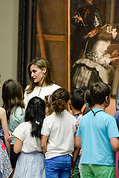 Queen Letizia during the visit to the Prado Museum with students of the school program 'The Art of Educating' (El Arte de Educar) at Prado Museum in Madrid, Spain, on June 19, 2017. Photo by Archie Andrews/ABACAPRESS.COM