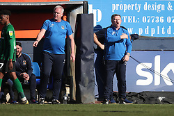 Coventry City manager Mark Robins during the Sky Bet League One match at Kenilworth Road Luton.