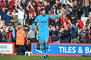 Tottenham Hotspur Goalkeeper, Hugo Lloris (1) captain at the final whistle 0-0 during the Premier League match between Bournemouth and Tottenham Hotspur at the Vitality Stadium, Bournemouth, England on 22 October 2016. Photo by Adam Rivers.