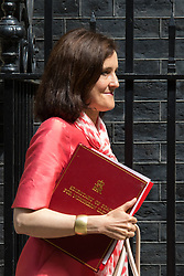 Downing Street, London, June 16th 2015. Secretary of State for Northern Ireland, Theresa Villiers leaves 10 Downing Street following the weekly cabinet meeting.
