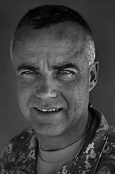 Colonel Dan Shanahan, 46. Suttons Bay, MI. Commander, 1st Air Cavalry Brigade, 1st Cavalry Division. Taken at Camp Liberty, Baghdad on Friday May 25, 2007.