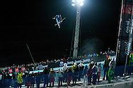 Torin Yater-Wallace during Men's Ski SuperPipe Finals at Winter X Games Europe 2012 in Tignes, France. ©Brett Wilhelm/ESPN