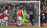 West Ham's Michail Antonio has a shot on goal which goes just wide during the Premier League match at the Emirates Stadium, London. Picture date: 7th March 2020. Picture credit should read: Paul Terry/Sportimage