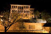 Greece, Macedonia, Castoria; Traditional Mansion night shot