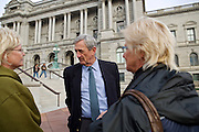 Rep.-elect Rick Nolan, D-Minn., talks to two of his constituents, Karen Moller, left, and Lynn Burdges on Nov. 15, 2012 in front of the Library of Congress in Washington, D.C. Nolan arrived in Washington, D.C. this week to register for orientation. He served three terms in Congress from 1975 until 1980 in Minnesota's 6th disrict.
