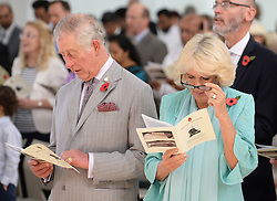 The Prince of Wales and the Duchess of Cornwall attend a service at the Bait Al Noor church in Muscat, the capital of Oman, at the start of their official tour of the Middle East.