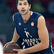 Anadolu Efes's Cenk AKYOL during their Two Nations Cup basketball match Anadolu Efes between Panathinaikos at Abdi Ipekci Arena in Istanbul Turkey on Saturday 01 October 2011. Photo by TURKPIX