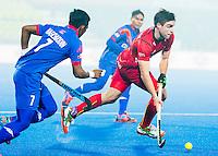LUCKNOW (India) -   Junior World Cup hockey  U21 for men .  MALAYSIA v BELGIUM  (0-3) . Thomas Verheijen (Bel) with left Muhammad Zaidi (MAS) . COPYRIGHT  KOEN SUYK