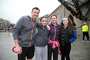 NO FEE PICTURES <br /> 1/1/15 George and Michelle O'Reilly, Balbriggan with their daughters Ciara and Nicole at the Resolution Day New Years Day fun run at the CHQ building in Dublin. Picture:Arthur Carron