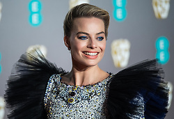 Margot Robbie attending 72nd British Academy Film Awards, Arrivals, Royal Albert Hall, London. 10th February 2019
