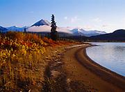 Early morning along the shore of Lower Tazimina Lake, Lake Clark National Preserve, Alaska.