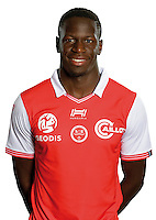 Omenuke Mfulu of Reims during the photocall of Reims for new season of Ligue 2 on September 29th 2016 in Reims<br /> Photo : Stade de Reims / Icon Sport