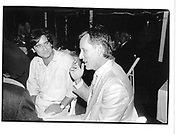 Griffin Dunne and James Woods. Men and Women HBO party. E. Hampton. August 1990. © Copyright Photograph by Dafydd Jones 66 Stockwell Park Rd. London SW9 0DA Tel 020 7733 0108 www.dafjones.com