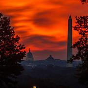 The sun rises over Washington on Monday, Oct. 1st, 2012.