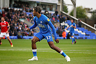 Peterborough United forward Ivan Toney (17) after his penalty miss during  the EFL Sky Bet League 1 match between Peterborough United and Barnsley at The Abax Stadium, Peterborough, England on 6 October 2018.