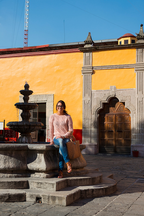 Doris Alvarez, from the United States, in the Coyoacan municipality in Mexico City on October 28, 2014.