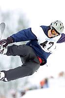 Snowboard, NM snøbrett halfpipe Geilo mars 2000. Rune Lundsør.