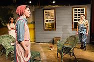 "Alex Trow, Michelle Eugene, and Rowan Michael Meyer in Owen Davis's ""The Detour"" at Metropolitan Playhouse."