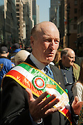 A parade director of the 2012 St. Patrick's Day Parade in New York.