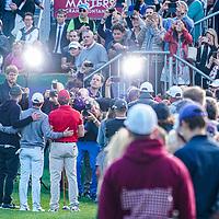 28.08.2019; Crans Montana; GOLF - European Masters - Gold Pro-Am;<br /> Justin Timberlake, Rory McIlroy und Dennis Quaid beim Fototermin <br /> (Andy Mueller/freshfocus)