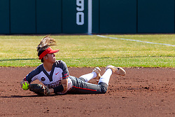 NORMAL, IL - April 06: Taylor Vanderpool during a college women's softball game between the ISU Redbirds and the University of Northern Iowa Panthers on April 06 2019 at Marian Kneer Field in Normal, IL. (Photo by Alan Look)