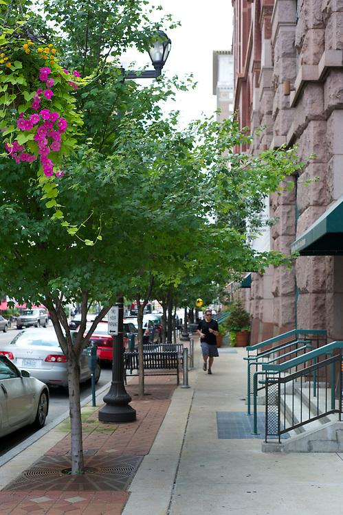 The Washington Avenue neighborhood in St. Louis, Missouri