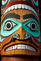 Saxman totem poles (largest collection of totem poles in the world), Saxman, near Ketchikan, Southeast Alaska USA